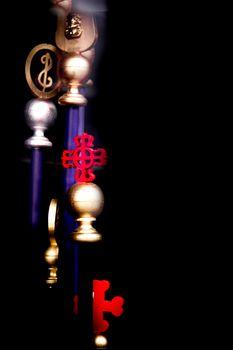 Religious symbols of Catholicism Easter