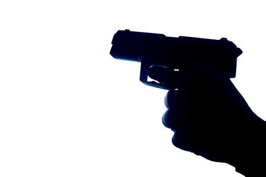 Firearm in silhouette