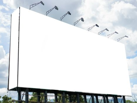 Advertising concept, Blank template outdoor for advertising or b