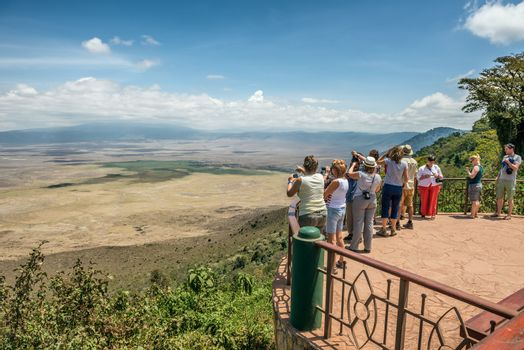 View over Ngorongoro Conservation Area