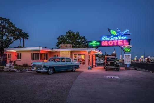 Historic Blue Swallow Motel in Tucumcari, New Mexico