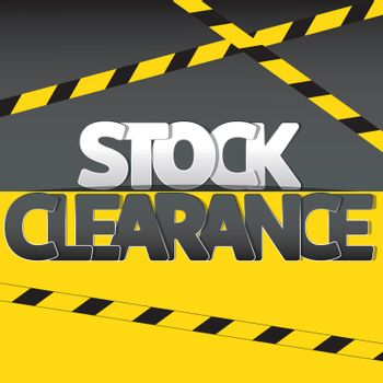 Stock clearance banner, flyer or poster
