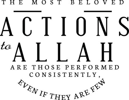 the most beloved actions to Allah