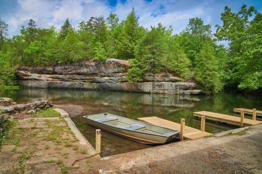 Boat docks at Pickett State Park, TN.