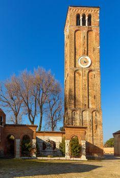 Donato bell tower on Murano island, Venice, Italy