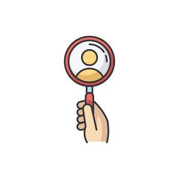 Recruitment RGB color icon