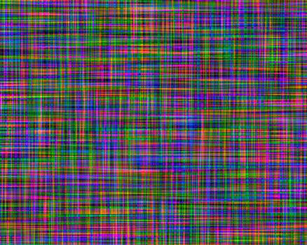 Abstract multicolored paint grunge plaid art pattern background.