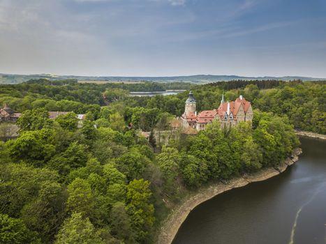 Majestic Czocha castle in spring