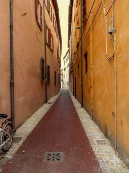 Street in the old center of the Rimini