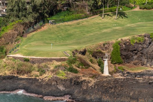 Timbers Kauai Ocean Golf Course and Kukii Point lighthouse, Nawi
