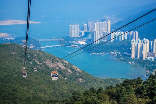 Cable car,from Hong Kong Ocean Park