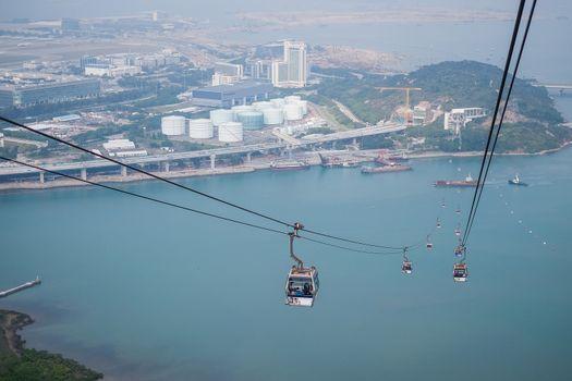 Cable car,from Hong Kong Ocean Park