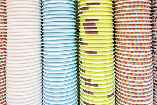 colorful background of colored paper cups