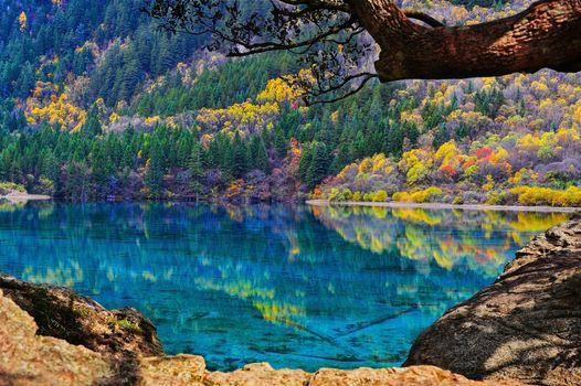 View Of Jiuzhaigou National Park