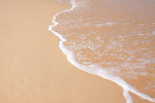 Wave on the sand beach