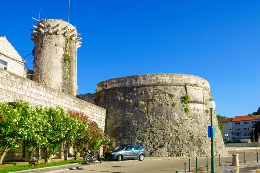 The Small Governor Tower and the west walls, Korcula