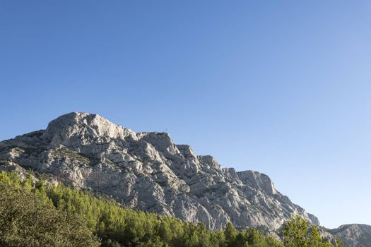 The famous and iconic Mountain Sainte-Victoire in South of France. France, Europe