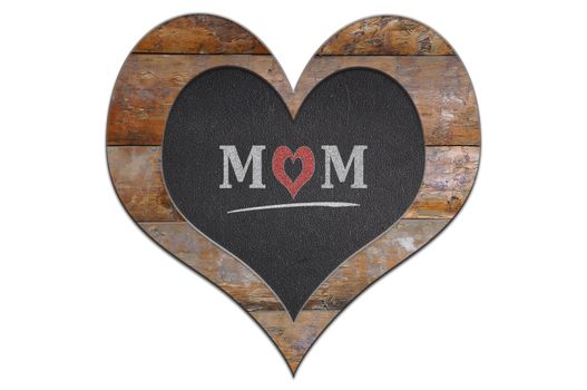 Heart made of wood and slate for Mother's Day