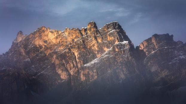 Pomagagnon is a mountain of the Dolomites in Belluno, northern I