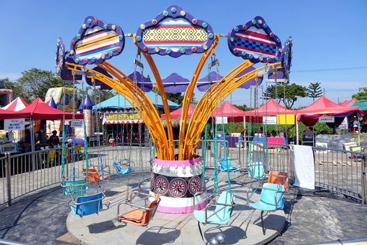 A traditional old style merry-go-round
