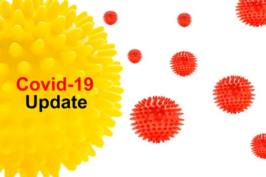 COVID-19 UPDATE text on white background. Covid-19 or Coronavirus