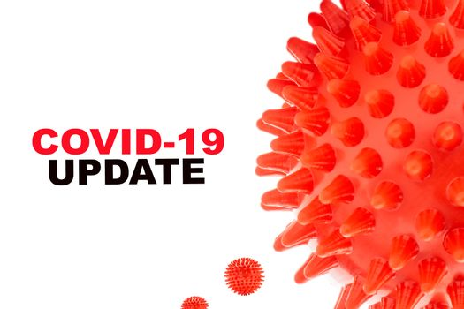 COVID-19 UPDATE text on white background. Covid-19 or Coronavirus concept