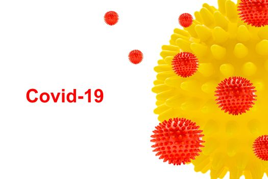 COVID-19 text on white background. Covid-19 or Coronavirus