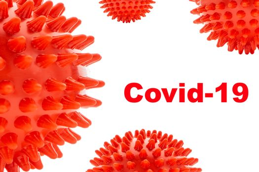 COVID-19 text on white background. Covid-19 or Coronavirus concept