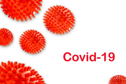 COVID-19 text on white background. Covid-19 or Coronavirus concept