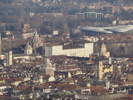 Aerial view of Turin city centre