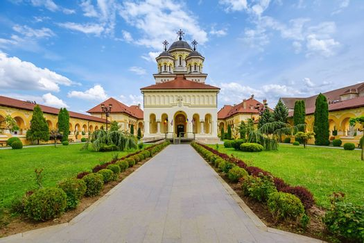 Coronation Cathedral in Alba Carolina Citadel. Alba Iulia, Romania