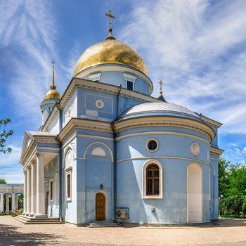 Izmail, Ukraine 06.07.2020. Holy Pokrovsky Cathedral in Izmail, Ukraine, on a sunny summer day
