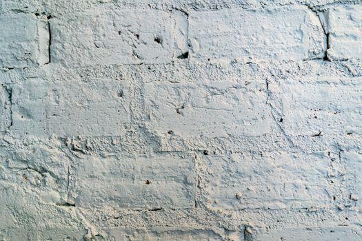 Brick Wall Texture. Painted  grunge white stonewall surface  bac