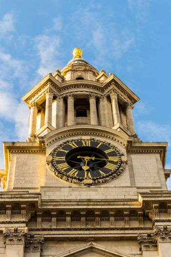 St Pauls Cathedral clock and clock tower.London, England