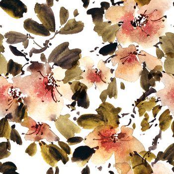 Blossom apple tree branch
