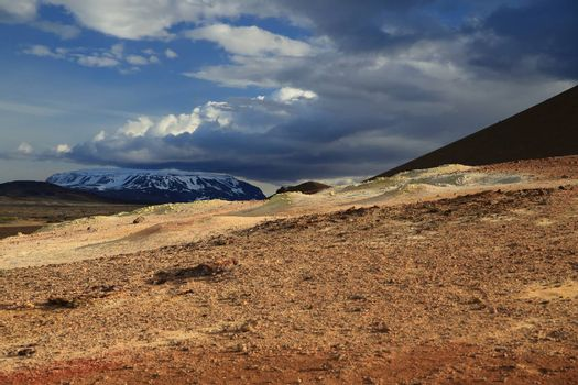 Namafjall geothermal area, near Lake Myvatn, northeast area, Iceland