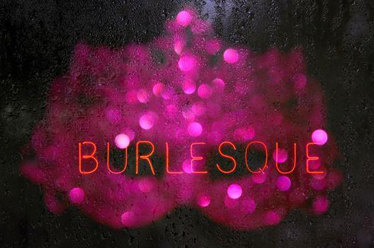 Vintage Neon Burlesque Sign