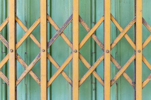 Minimalism style, Ancient steel door