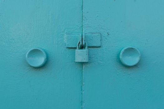 Minimalism style, Metal door locked