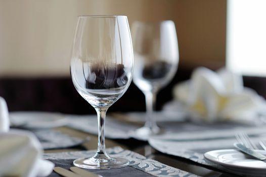 Two wine glasses