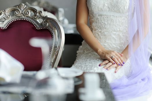 Bride's beside a table decorated for a wedding