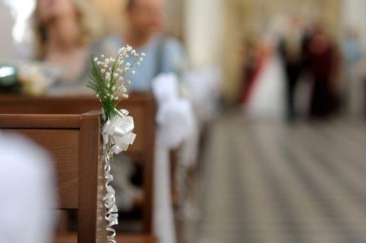 Simple flowers wedding decoration