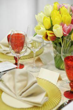 Colorful festive table