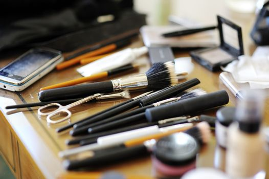 Some makeup brushes