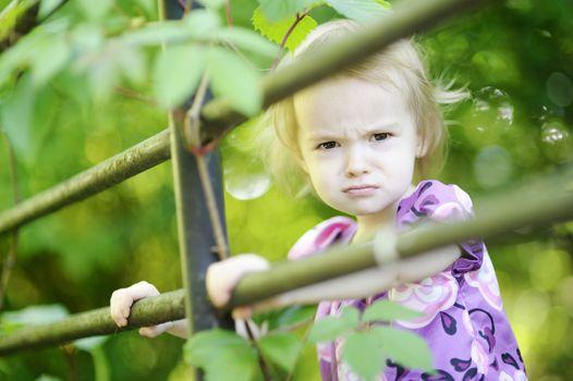 Angry toddler girl