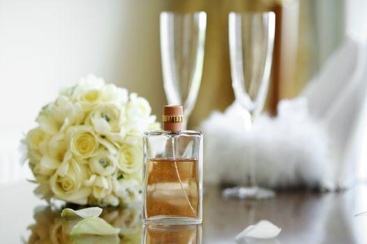 Wedding festive symbols set