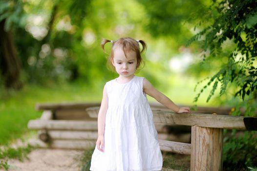 Little thoughtful toodler girl