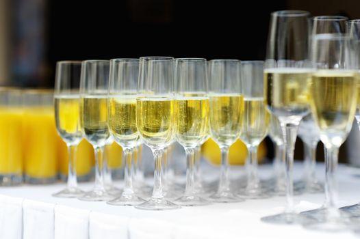 Few glasses of wine