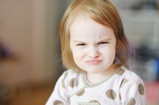 Little angry toddler girl