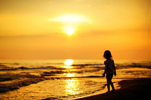 A child by the sea